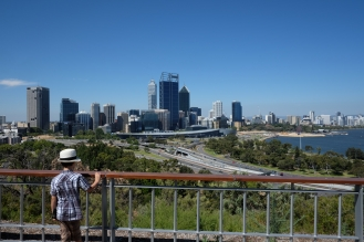 View from Kings Park towards Perth City and the Swan River.